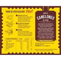 Canelones instant EL PAVO, 18 placas, caja 125 g