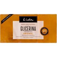Jabón de glicerina en pastilla LIDA, pack 3x125 g