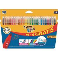 Rotulador de colores Kids BIC, 18+6uds