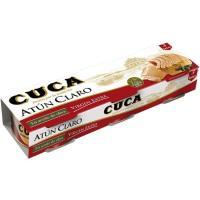 Atún claro en aceite virgen CUCA, pack 3x65 g