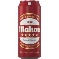 Cerveza MAHOU 5 Estrellas, lata 50 cl