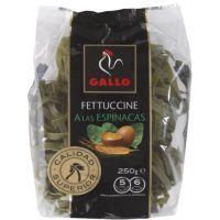 Fettuccine de espinacas GALLO, paquete 250 g