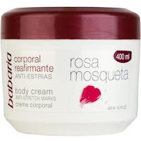 Crema corporal de rosa mosqueta BABARIA, tarro 400 ml