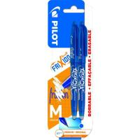 Boligrafo tinta gel borrable, color: 2 azul, punta 0.7mm Frixion Ball PILOT, 2uds