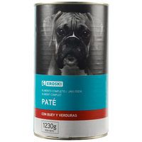 Alimento para perros con buey EROSKI Friends, lata 1,23 kg