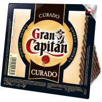 Queso curado GRAN CAPITAN, cuña 250 g