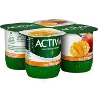 Activia con mango DANONE, pack 4x120 g