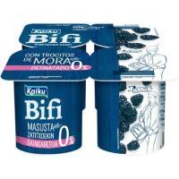 Yogur Bifi Activium 0% con moras KAIKU, pack 4x125 g
