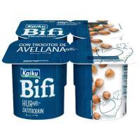 Yogur Bifi Activium con avellana KAIKU, pack 4x125 g