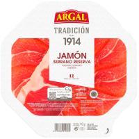 Plato de jamón serrano ARGAL, bandeja 90 g