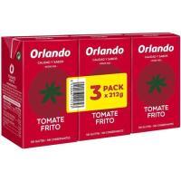 Tomate frito ORLANDO, pack 3x212 g