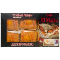 Sobao con mantequilla EL MACHO, 12 unid., paquete 1 kg
