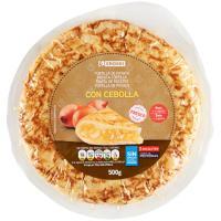 Tortilla fresca con cebolla EROSKI, 1 unid., 500 g