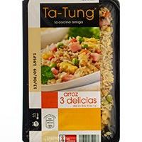 Arroz 3 delicias TA TUNG, bandeja 350 g
