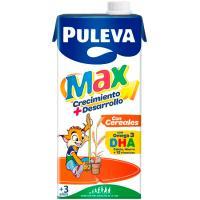 Preparado lácteo energía con cereales PULEVA Max, brik 1 litro