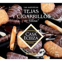 Tejas-cigarrillos de chocolate CASA ECEIZA, caja 350 g