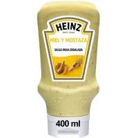 Salsa de miel-mostaza HEINZ, bocabajo 400 g