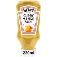 Salsa de curry-mango HEINZ, bocabajo 220 g