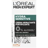 Hidratante piel sensible L`OREAL Men Expert, dosificador 50 ml