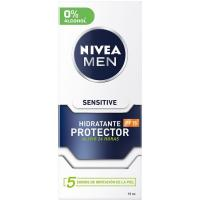 Hidratante sensitive NIVEA For Men, dosificador 75 ml