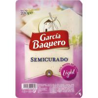 Queso semi. light GARCÍA BAQUERO, loncha, bandeja 200 g
