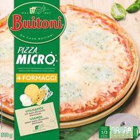 Pizza microondas 4 quesos BUITONI, caja 310 g
