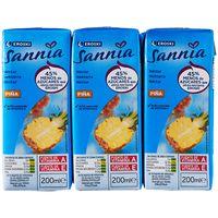 Néctar de piña sin azúcar EROSKI Sannia, pack 6x20 cl