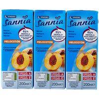 Néctar de melocotón sin azúcar EROSKI Sannia, pack 6x20 cl