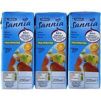 Néctar multifrutas sin azúcar EROSKI Sannia, pack 6x20 cl