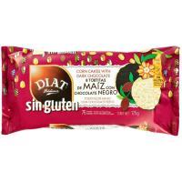 Tortitas de maíz con chocolate negro DIET, paquete 125 g