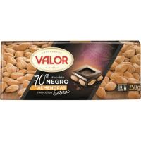 Chocolate negro 70% cacao con almendras VALOR, tableta 250 g