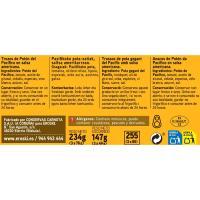 Trozos de potón en salsa americana EROSKI, pack 3x78 g