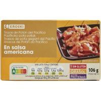 Calamar en salsa americana EROSKI, lata 115 g