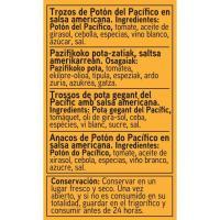 Trozos de potón en salsa americana EROSKI, lata 115 g