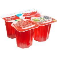 Gelatina de fresa EROSKI, pack 4x100 g