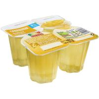 Gelatina de limón EROSKI, pack 4x100 g