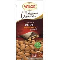 Chocolate puro con almendras sin azúcar VALOR, tableta 150 g