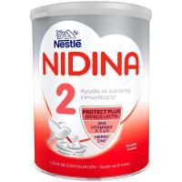 Leche de continuación NESTLÉ Nidina Premium 2, lata 800 g