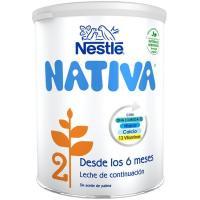 Leche de continuación NESTLÉ Nativa 2, lata 800 g