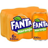 Refresco de naranja FANTA, pack 6x33 cl