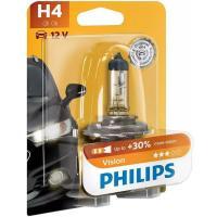 Lámpara auto halógena h-4 + 30% visión PHILIPS, 1 u