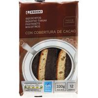 Bizcochito de chocolate EROSKI, 12 unid., paquete 330 g