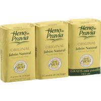 Jabón HENO DE PRAVIA, pastilla, pack 3x125 g