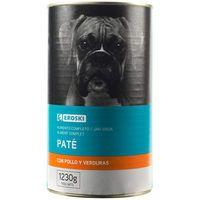 Alimento con pollo para perro EROSKI, lata 1,23 kg