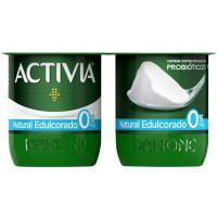 Activia 0% natural edulcorado DANONE, pack 4x120 g