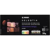 Turrón Sacher Eroski SELEQTIA, caja 200 g