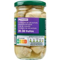 Alcachofa natural 20/30 frutos EROSKI, frasco 175 g