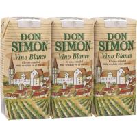 Vino Blanco DON SIMON, pack 3x187 ml