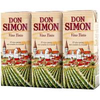 Vino Tinto DON SIMON, pack 3x187 ml