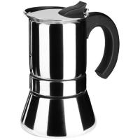 Cafetera de acero inoxidable, apto para todo tipo de cocinas, EROSKI, 4 tazas